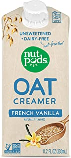 nutpods Oat French Vanilla, (12-Pack), Unsweetened Dairy-Free Creamer, Nut-Free Creamer, Made from Oats, Gluten Free, Non-...