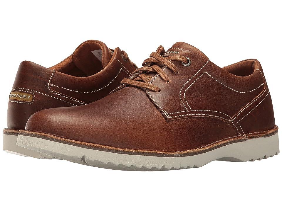Rockport Cabot Plain Toe (Tan Leather) Men