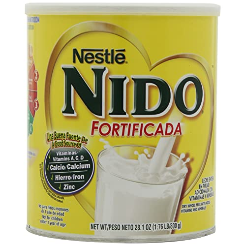 Nestle Nido Instant Dry Whole Milk Powder, Fortificada, 1.76-Pound Cans (Pack