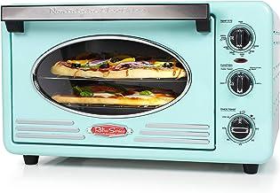 Nostalgia RTOV2AQ Large-Capacity 0.7-Cu. Ft. Capacity Multi-Functioning Retro Convection Toaster Oven, Fits 12 Slices of B...
