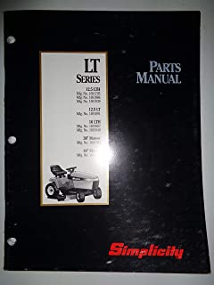 Simplicity LT Series 12.5 LTH, 12.5 LT and 16 LTH Lawn Garden Tractor Parts Catalog Manual 11/91 TP1156