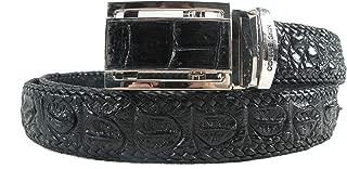 Genuine Crocodile Alligator Backbone Skin Leather Handmade Belt 46
