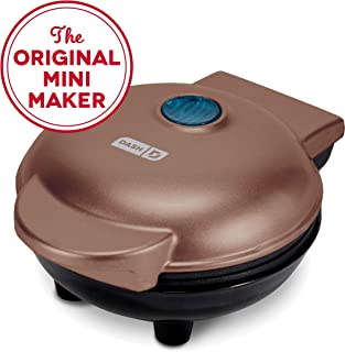 Dash DMW001CU Mini Maker Iron for for Individual Waffles, Paninis, Hash browns, other on the go Breakfast, Lunch, or Snacks, Copper