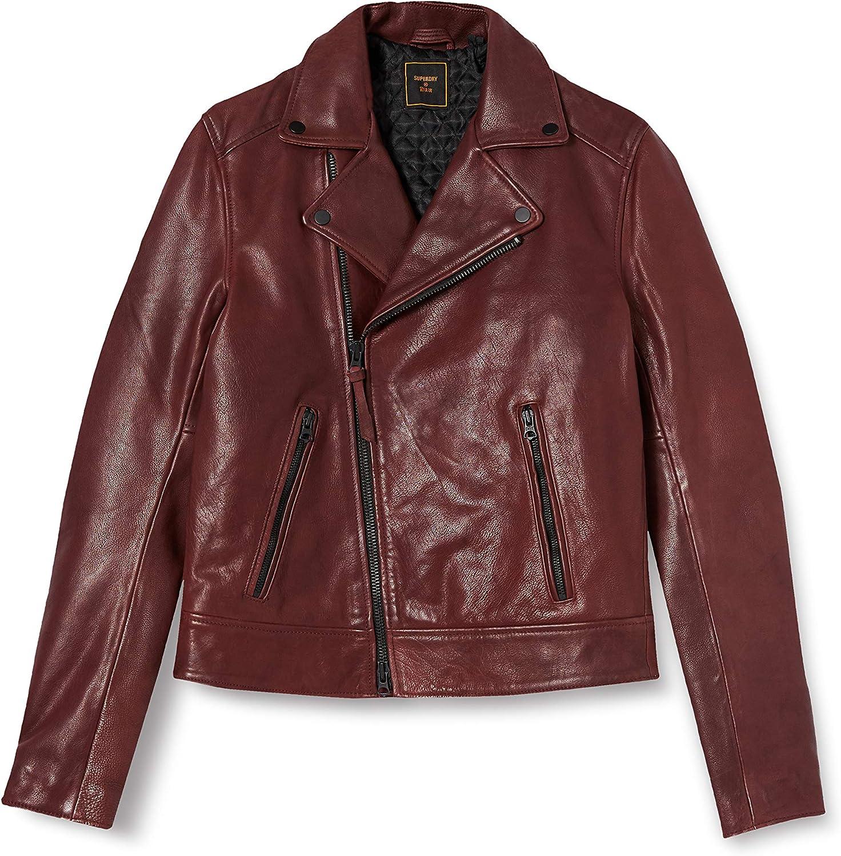 Superdry Men's Leather Biker Jacket