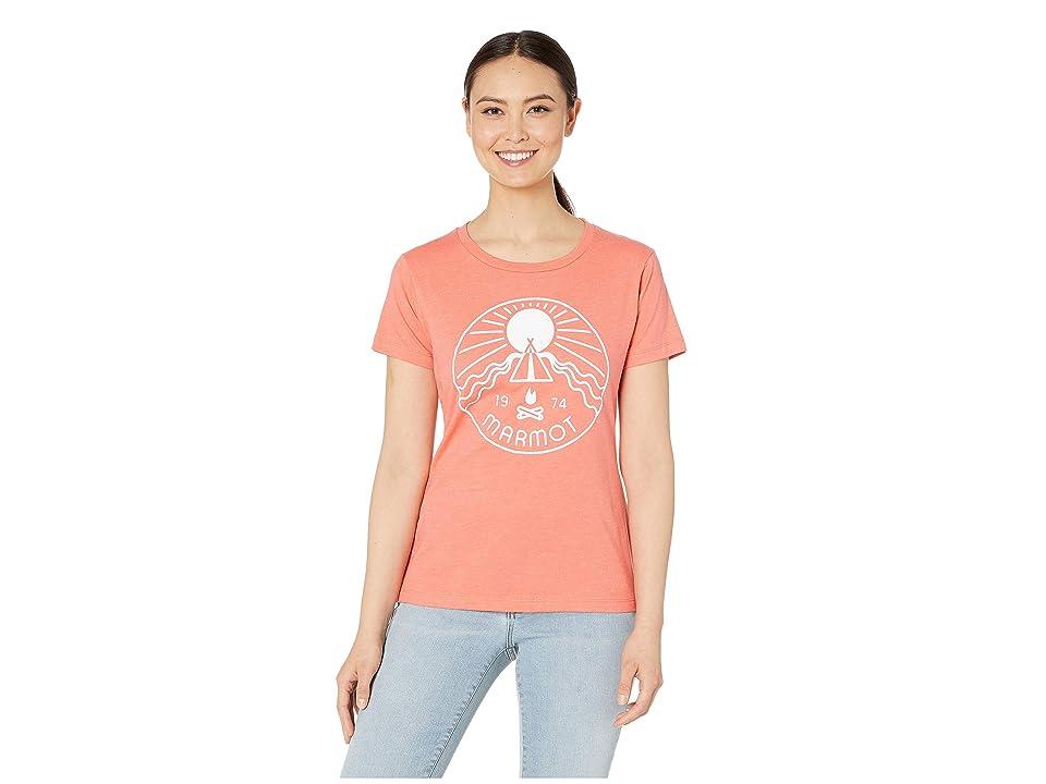 Marmot Prism Short Sleeve Tee (Flamingo Heather) Women