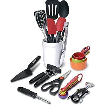 Farberware 21-Piece Tool and Gadget Set with Crock