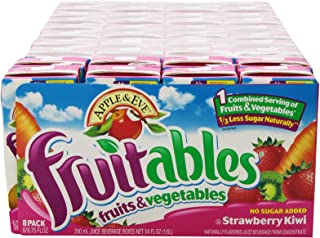 Apple & Eve Fruitables, Strawberry Kiwi, 200-ml., 8 Count, Pack of 5
