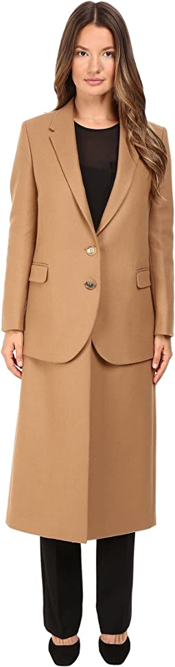 Hybrid Long Double Layer Wool Coat