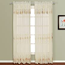 American Curtain and Home Ginger Window Curtain, 50-Inch by 84-Inch, Natural