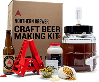 Northern Brewer – 1 Gallon Craft Beer Making Starter Kit, Equipment and Beer Recipe..