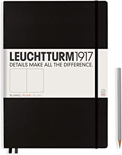 LEUCHTTURM1917 (308227) Notebook Master Classic (A4+), Hardcover, 233 numbered pages, plain, black