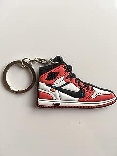 Jordan Retro 1 OG X Off-White Chicago Sneaker Keychain Shoes Keyring AJ 23