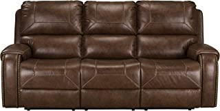 Standard Furniture 4229363V Winslow Manual Motion Reclining USB Charger, Brown Sofas, 89