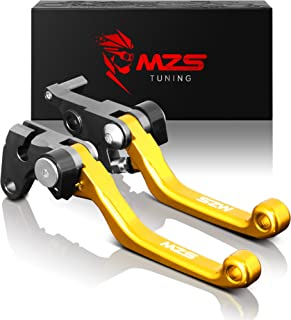 MZS Pivot Levers Brake Clutch CNC for Suzuki RMZ250 2004/ RMZ250 2007-2018/ RMZ450 2005-2018 (Gold)
