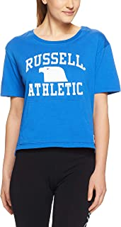 Russell Athletic Women's Cropped T-Shirt, Hydro