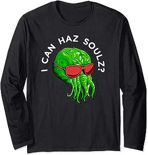 Cthulhu Monster Squid Octopus Wants Souls Long Sleeve T-Shirt