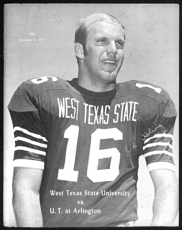 Ranking TOP2 1971 Free shipping / New West Texas State v Arlington Ex 10 Football 9 Program