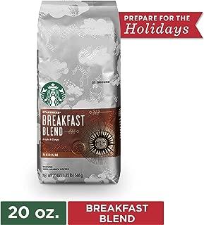 Starbucks Breakfast Blend Medium Roast Ground Coffee, 20 Oz. Bag | Great Holiday Gift for Coffee Lovers