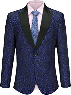Mens Suit Floral Party Dress Suit Stylish Dinner Tuxedo Jacket Wedding Blazer