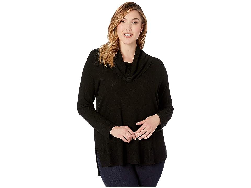 Karen Kane Plus Plus Size Cowl Neck Sweater (Black) Women