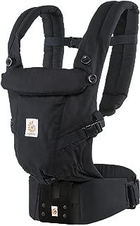 ERGO Baby 抱っこひも おんぶ可 [日本正規品保証付] (日本限定ベビーウエストベルト付) (洗濯機で洗える) 装着簡単 ベビーキャリア アダプト ADAPT ブラック CREGBCAPEABLK