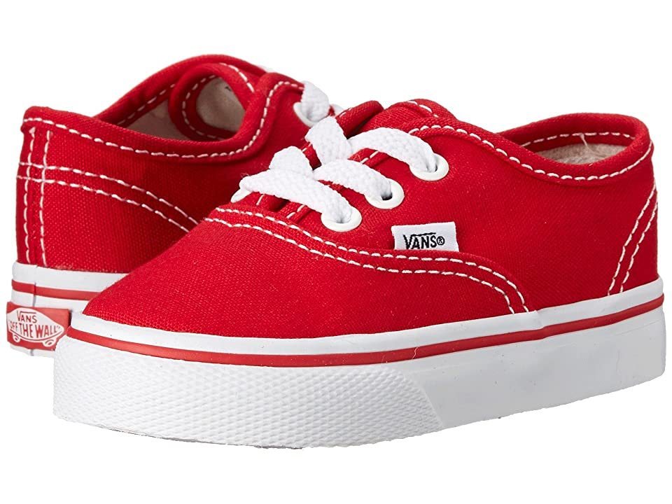 Vans Kids Authentic Core (Toddler) (Red) Kids Shoes