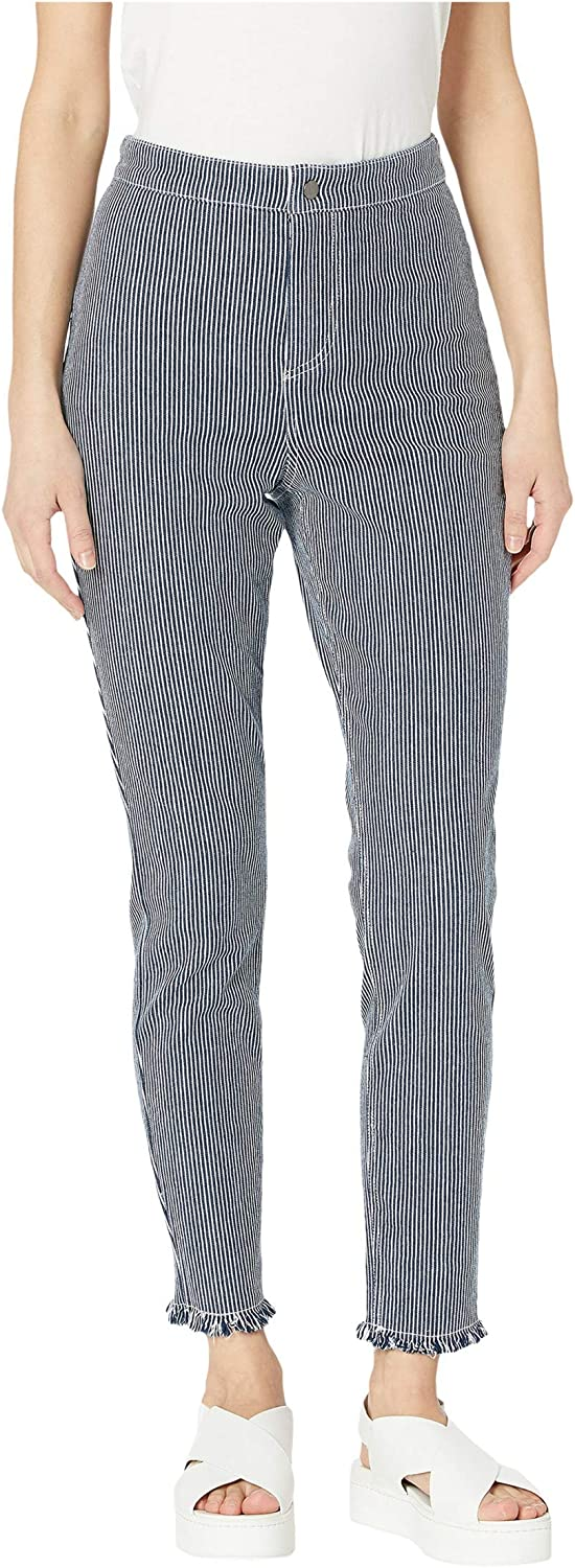 cupcakes and cashmere Women's Wren Cotton Twill Engineer Stripe Skinny Pant
