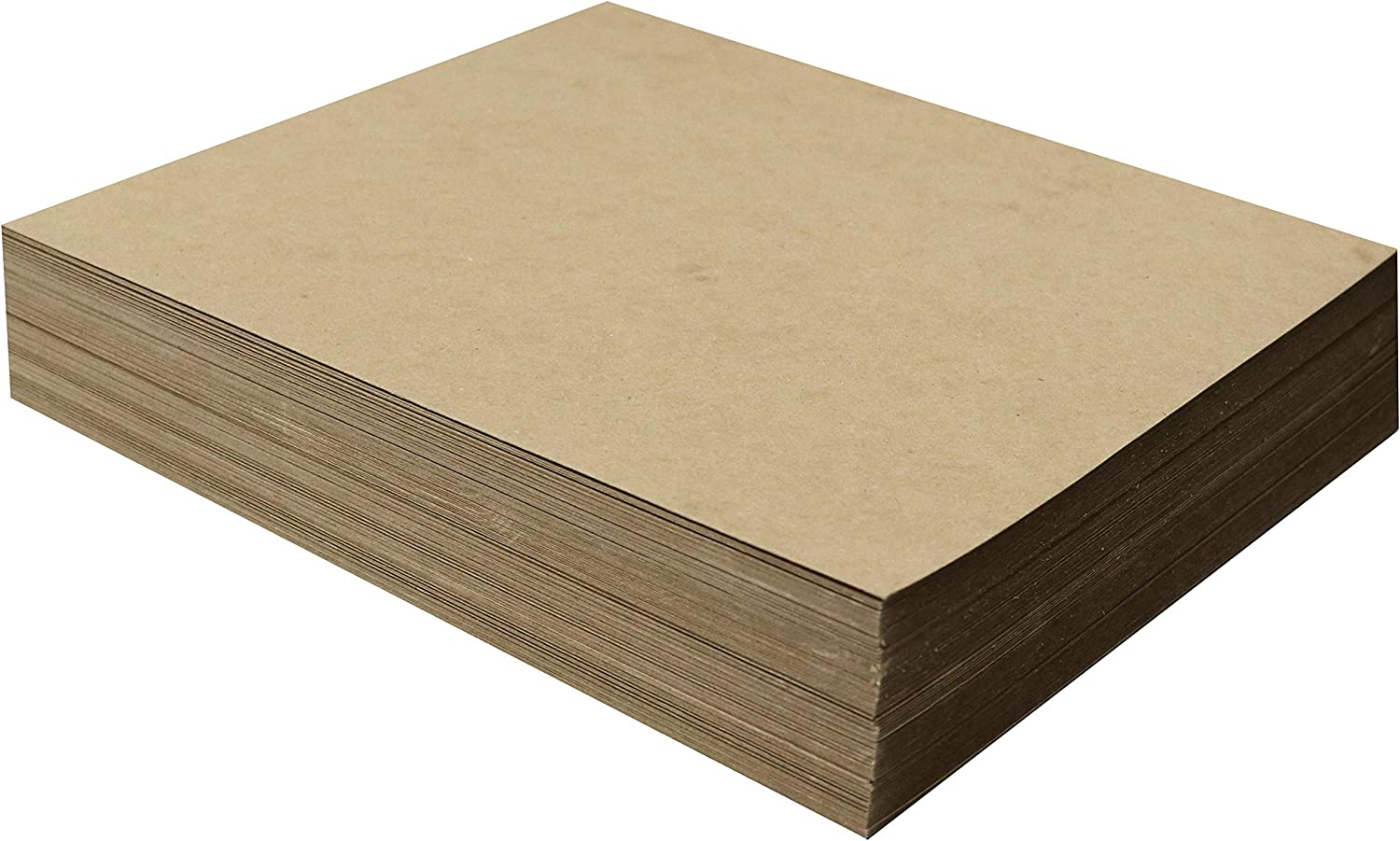 100 Chipboard Sheets 11 x 14 inch - 22pt (Point) Light Weight Brown Kraft Cardboard for Scrapbooking & Picture Frame Backing (.022 Caliper Thick) Paper Board | MagicWater Supply
