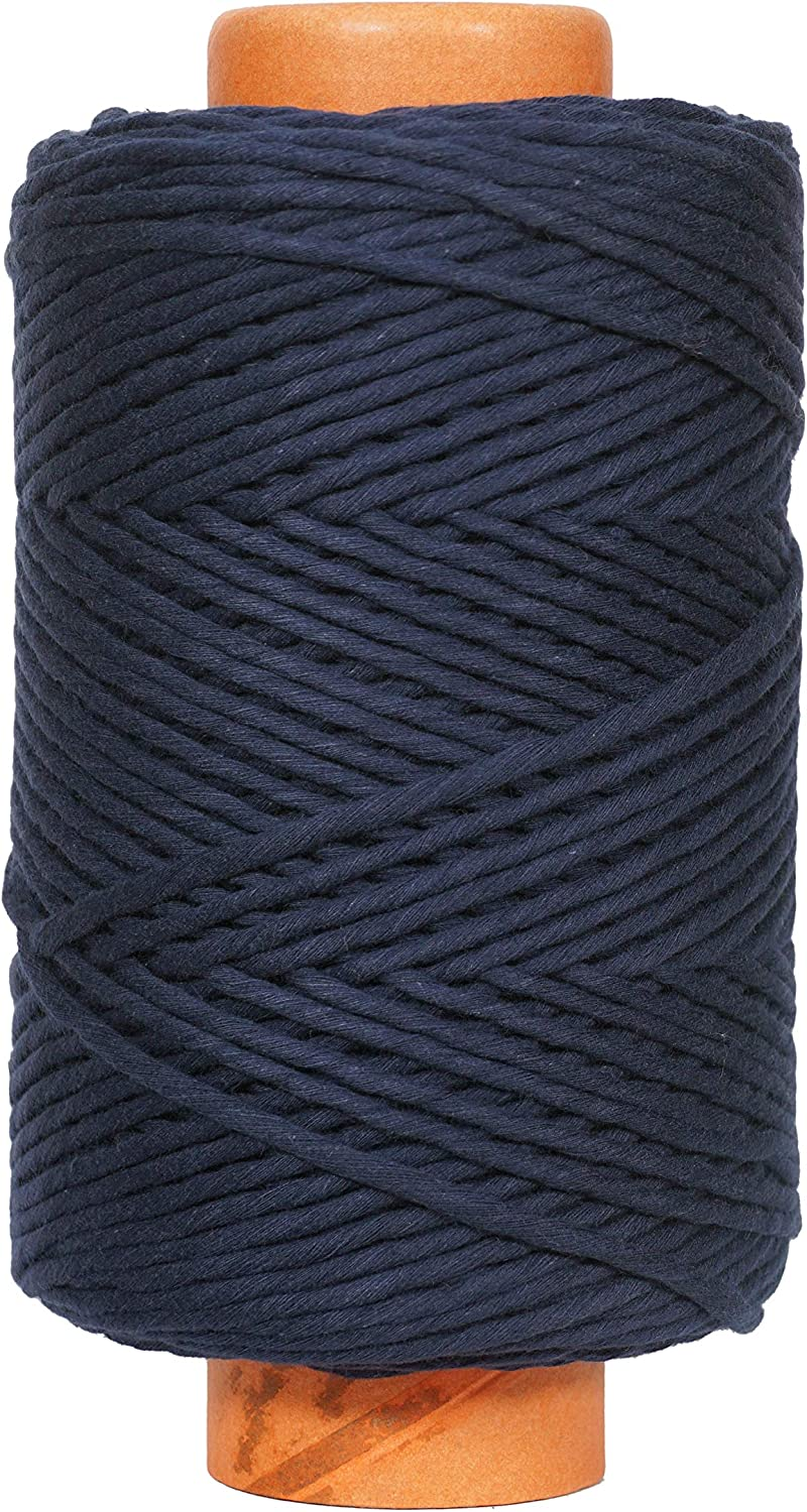 Crafteza Navy Blue Macrame Cord Made San Francisco Mall Manufacturer direct delivery in India 4mm X mt A 210