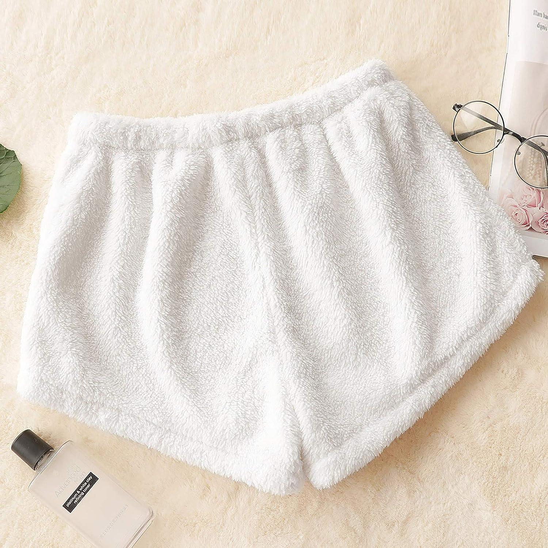 Women's Kawaii Anime Plush Pajamas Shorts Sweet Lolita Safety Pants Comfortable Pj Bottoms Homewear Loungewear
