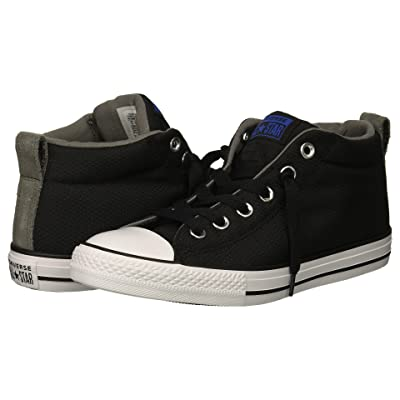 Converse Kids Chuck Taylor All Star Street Mid (Little Kid/Big Kid) (Black/Hyper Royal/White) Boy