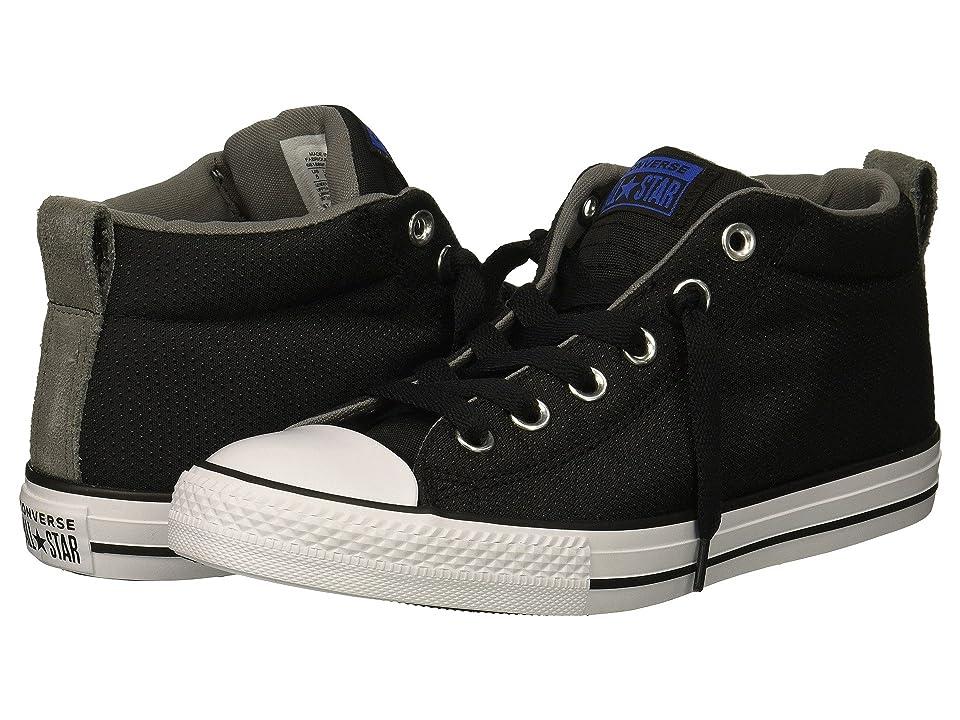 Converse Kids Chuck Taylor All Star Street Mid (Little Kid/Big Kid) (Black/Hyper Royal/White) Boy