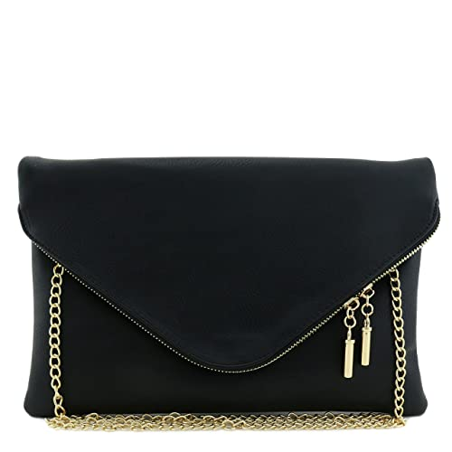 262300a83b Large Envelope Clutch Bag with Chain Strap