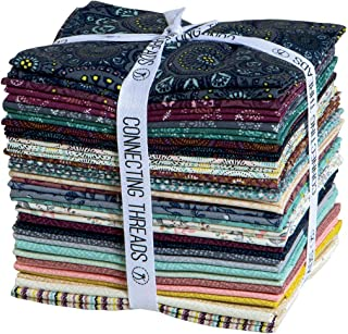 Connecting Threads Print Collection Precut Quilting Fabric Bundle Fat Quarters (Tessallations)