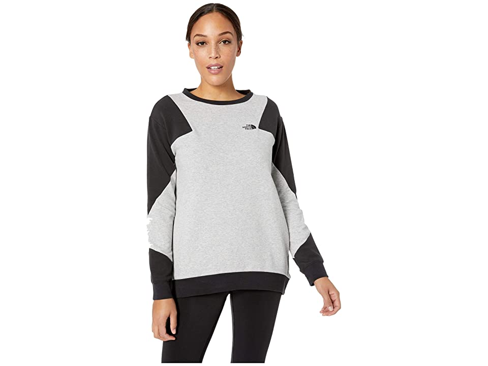 The North Face Train N Logo Pullover (TNF Light Grey Heather/TNF Black) Women