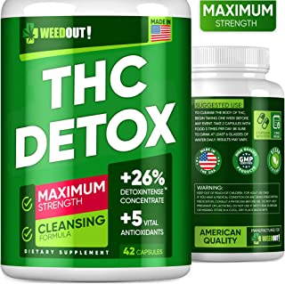 WEEDOUT Liver Detox, Urinary Tract & Kidney Cleanse - USA Made - Powerful Toxins Remove - 100% Natural Detox Cleanse with 5 Vital Antioxidants - Milk Thistle & Dandelion Extract - Vegan Detox Pills