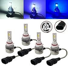 CK Formula (3 Color Per Bulb) 9006 HB4 9005 HB3 6000K White 8K 10K Blue COB LED (Low/High Beam Headlight) 7600 LM 72W US