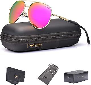 LUENX Aviator Sunglasses Womens Polarized Mirror with...