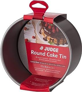 "Judge JB40 Non-Stick Round 6"" Cake Tin with Loose Base, Dishwasher Safe 16cm x 9cm - 5 Year Guarantee"