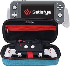 Satisfye - New Lite Elite Bundle, Turquoise, Accessories Compatible with Nintendo Switch Lite - Bundle includes: Grip, Elite Case, Low Profile A-C USB Cable. BONUS: 2 Thumbsticks