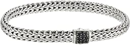 Classic Chain 6.5mm Bracelet with Black Sapphire