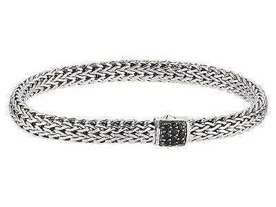 John Hardy Classic Chain 6.5mm Bracelet with Black Sapphire (Silver) Bracelet