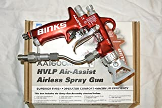 Binks AA1600M HVLP Air Assist Airless Paint spray Gun Kit + Accessories