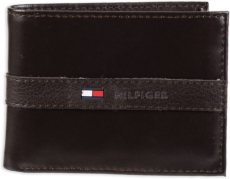 Tommy Hilfiger - Cartera con 6 Bolsillos para Tarjetas de crédito y Ventana de identificación extraíble