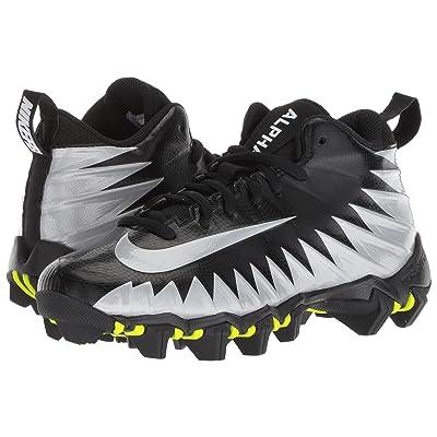 Nike Kids Alpha Menace Shark Football (Toddler/Little Kid/Big Kid) (Black/Metallic Silver/White) Kids Shoes