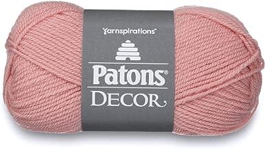 Patons  Decor Yarn - (4) Medium Worsted Gauge  - 3.5oz -  Pale Rose -   For Crochet, Knitting & Crafting