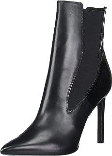 حذاء برقبة طويلة للنساء من Nine West، جلد أسود، 5. 5