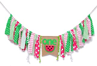 Watermelon High Chair Banner for 1st Birthday - First Birthday Decoration for Baby's,Theme Garland for Birthday Party,Baby Birthday Souvenir Gifts (Watermelon High Chair Banner)