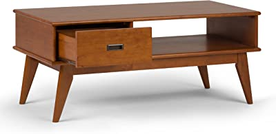 b46f6933dc32 Mid Century Style Tierney Brown Wood Handmade Coffee Table Stained Finish  (medium auburn brown)