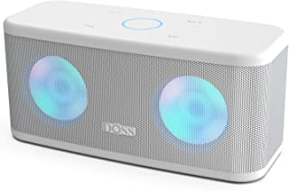 DOSS SoundBox Plus Portable Wireless Bluetooth Speaker with HD Sound and Deep Bass, Wireless Stereo Paring, Built-in Mic, 20H Playtime, Portable Wireless Speaker for Phone, Tablet, TV and More-White